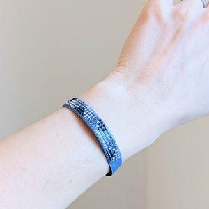 Les Interchangeables Paris Swarowski Bracelet Blue